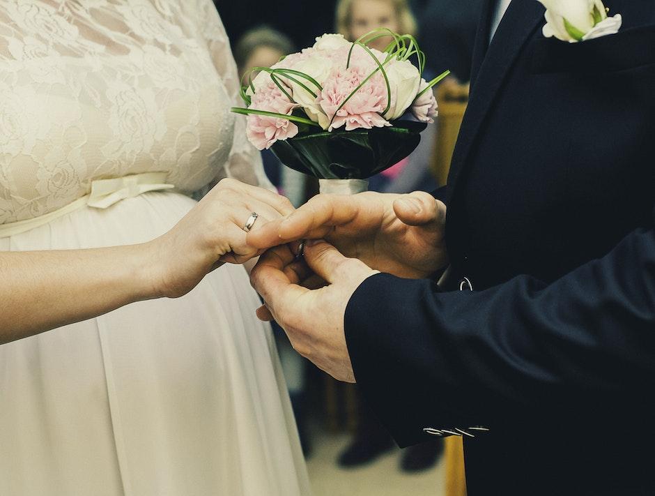 Groom and Bride Wedding Ceremony