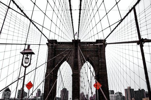 Základová fotografie zdarma na téma architektura, brooklynský most, centrum města, cestování