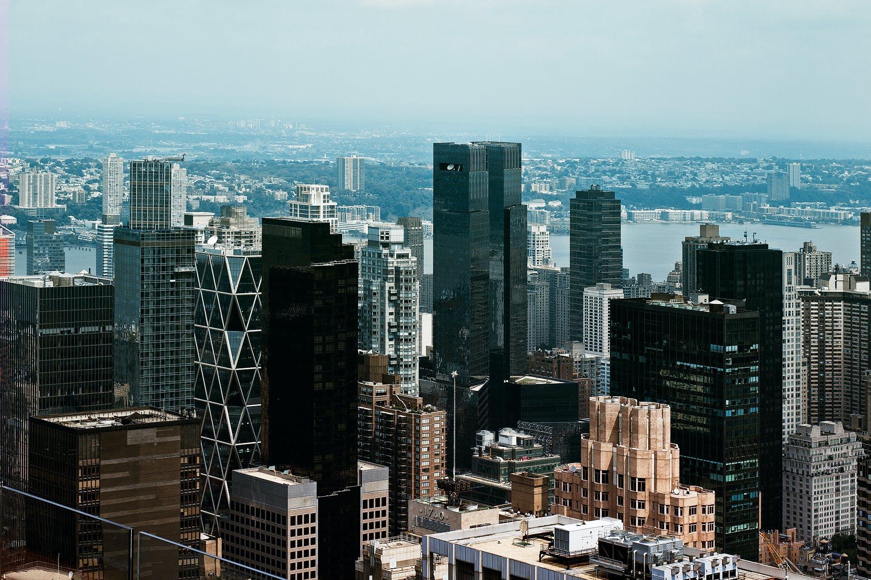 Aerial Photo of Buildings Under Blue Sky