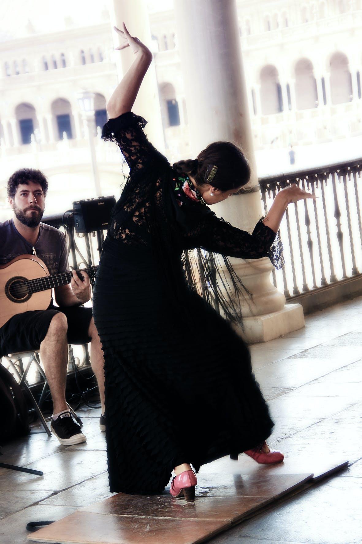 Kostenloses Stock Foto zu flamenco, tänzer