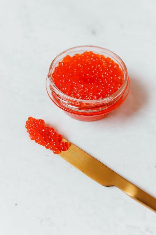Kostnadsfri bild av brödkniv, kaviar, röd kaviar