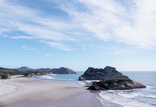 Kostenloses Stock Foto zu natur, strand, ferien, sand