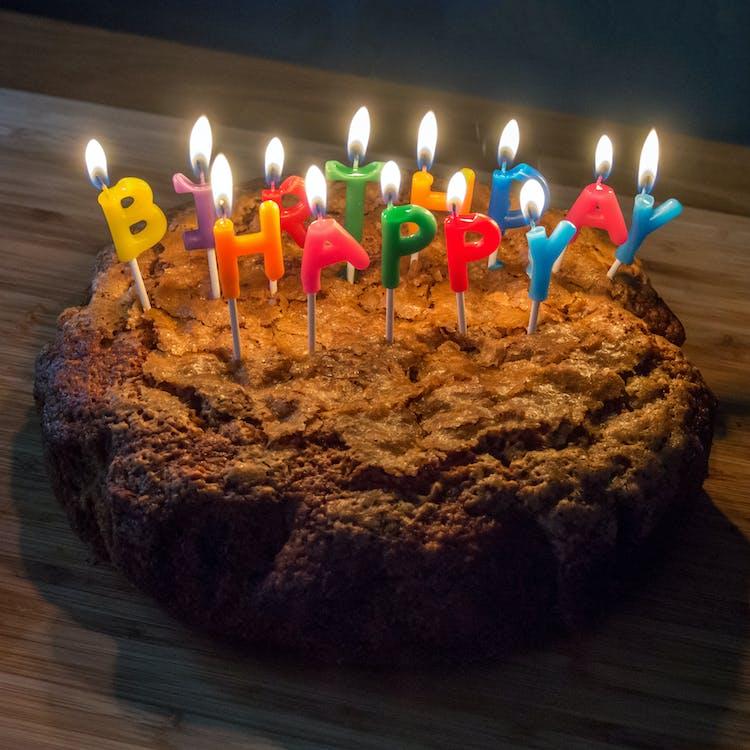 Free stock photo of birthday cake, cake, candles