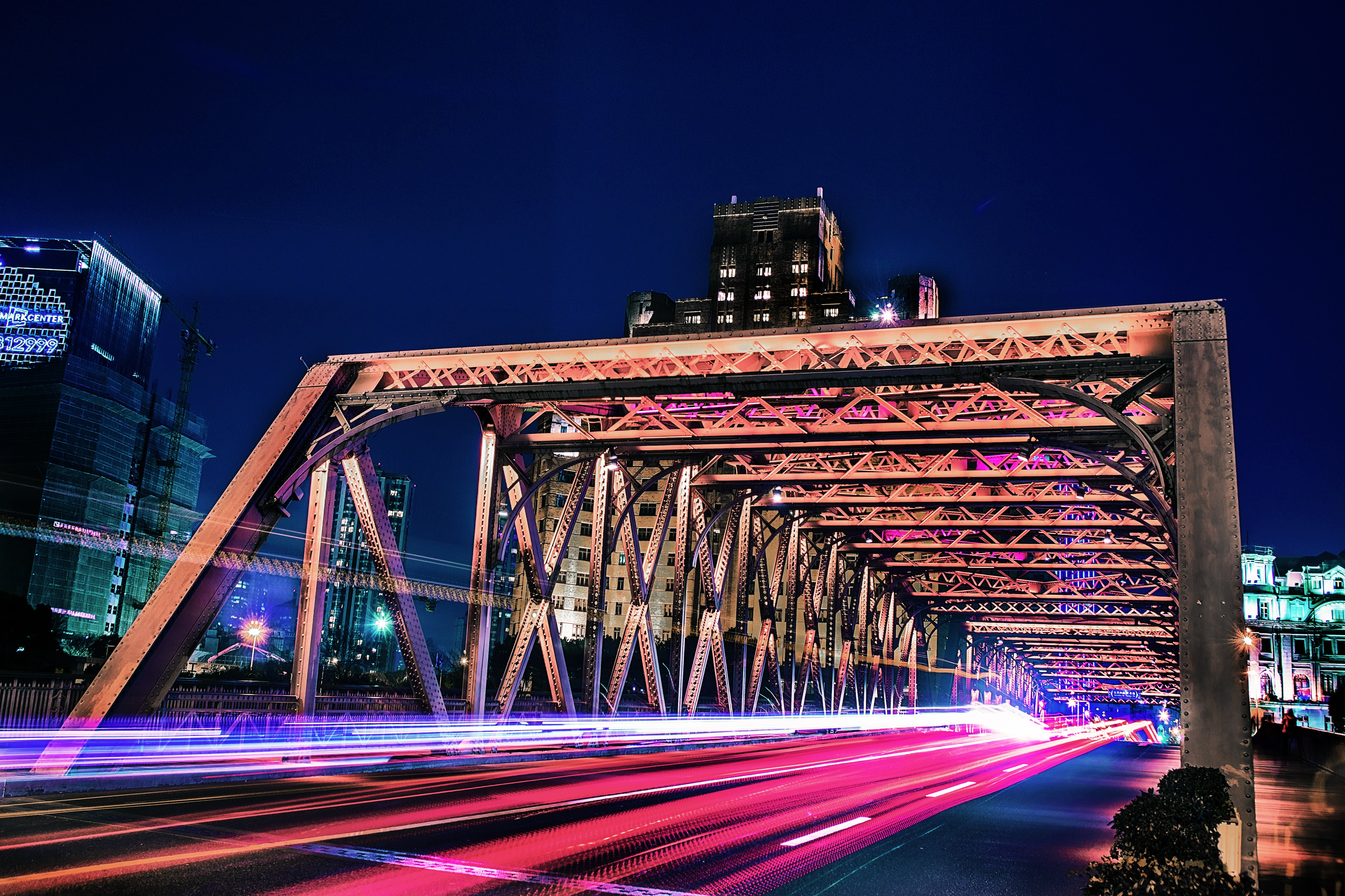 Bridge in Time-lapse Photo