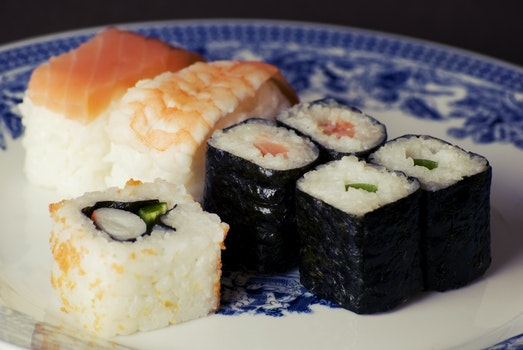 Free stock photo of food, sushi