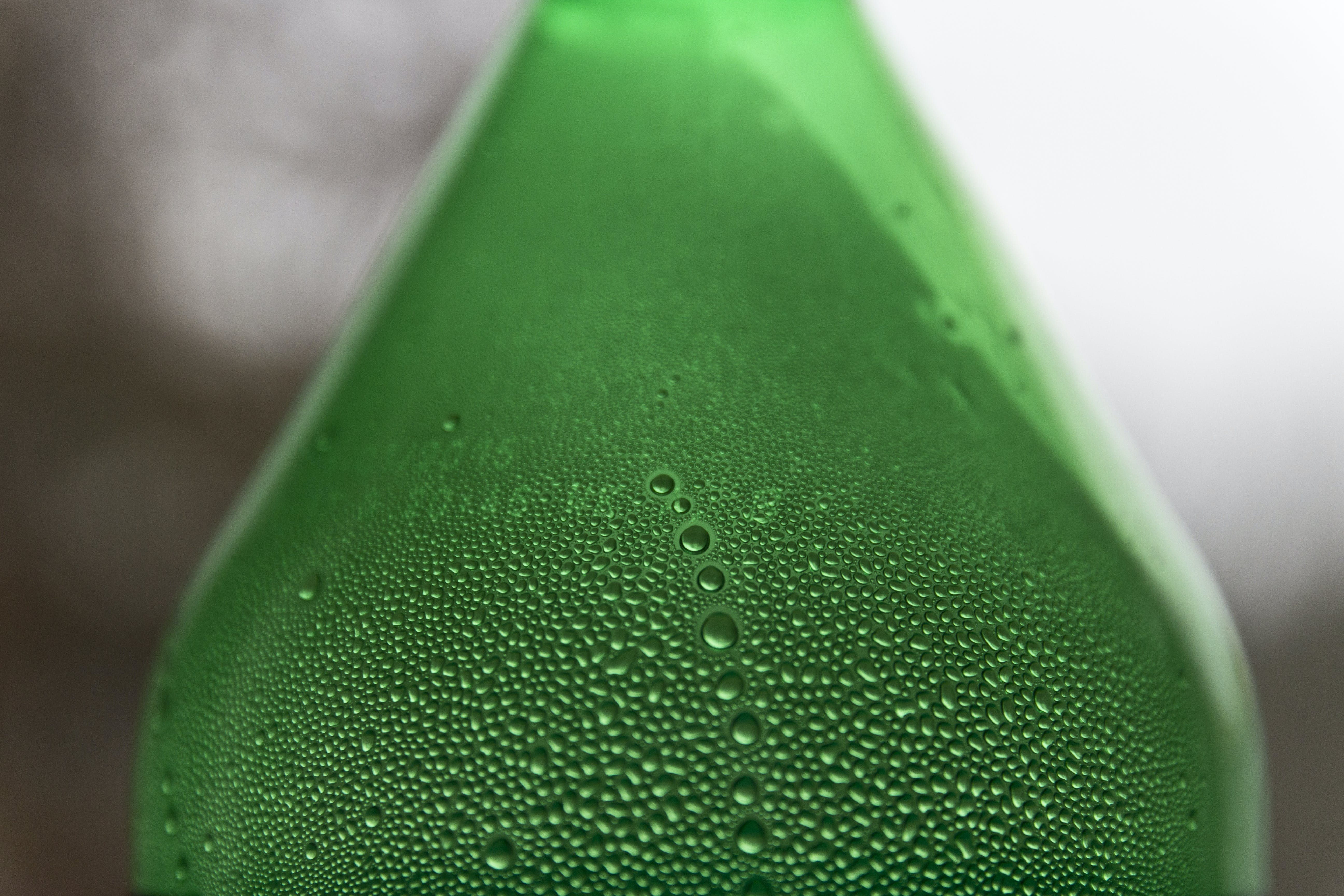 Free stock photo of green, drops, bottle