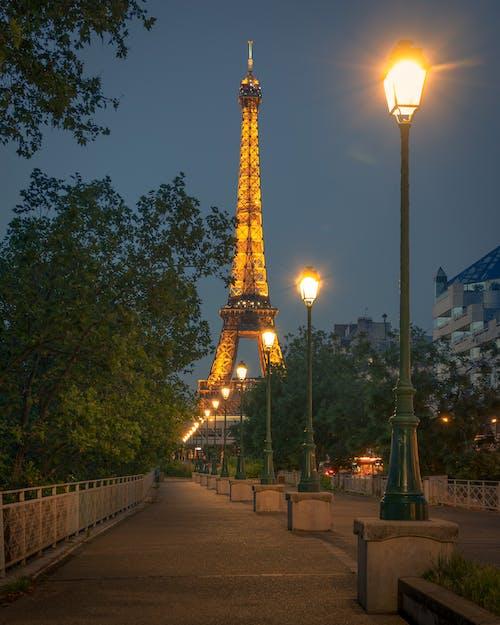 Eiffel Tower Paris during Night Time
