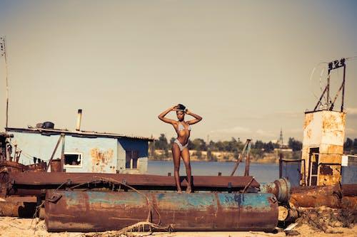Photos gratuites de abandonné, afrique, bateau, beau
