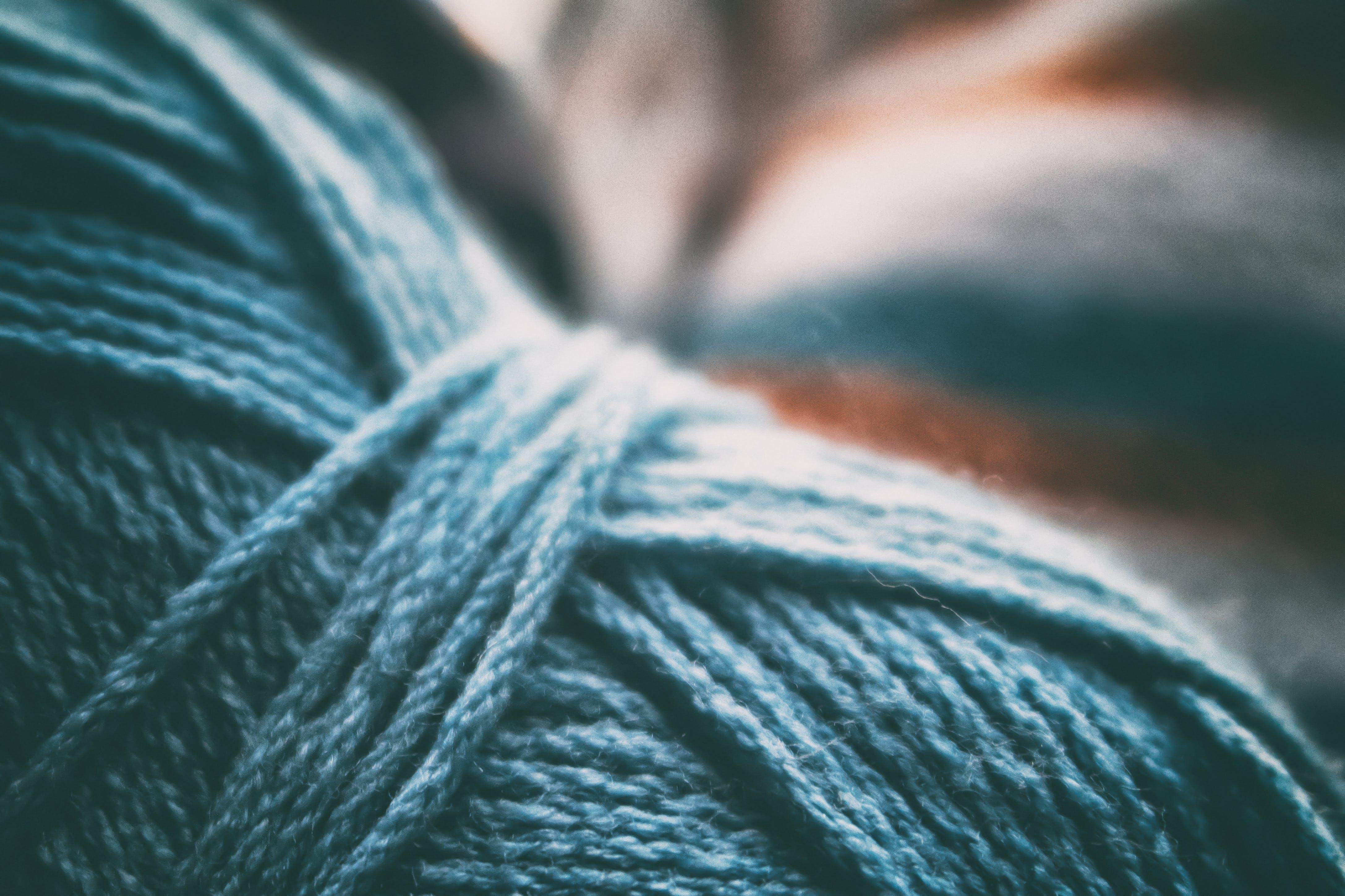 Kostenloses Stock Foto zu blau, wolle, weich, garn