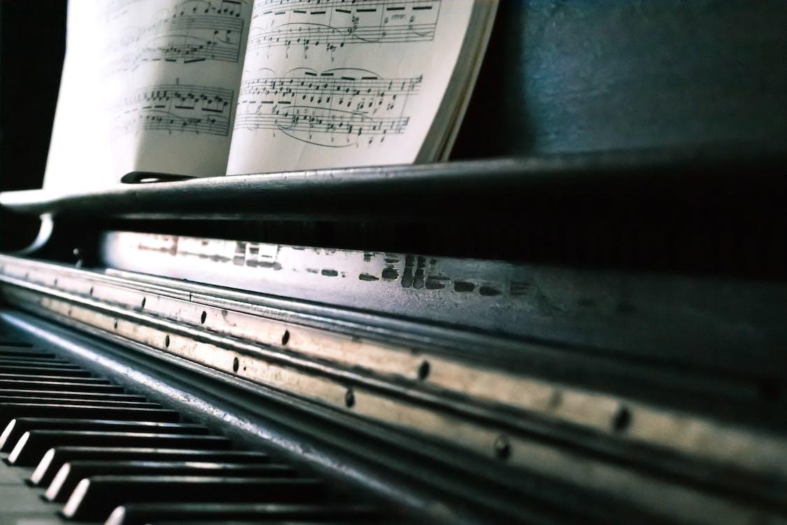 hintergrund, instrument, klavier