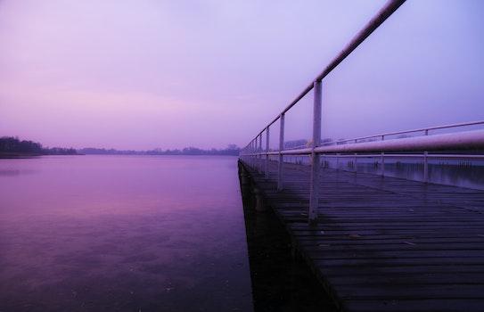 Free stock photo of jetty, dawn, sky, sunset