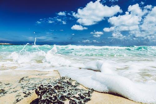 天空, 岩石, 岸邊, 景觀 的 免费素材照片
