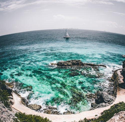Imagine de stoc gratuită din apă, aventură, barcă cu pânze, face cu mâna