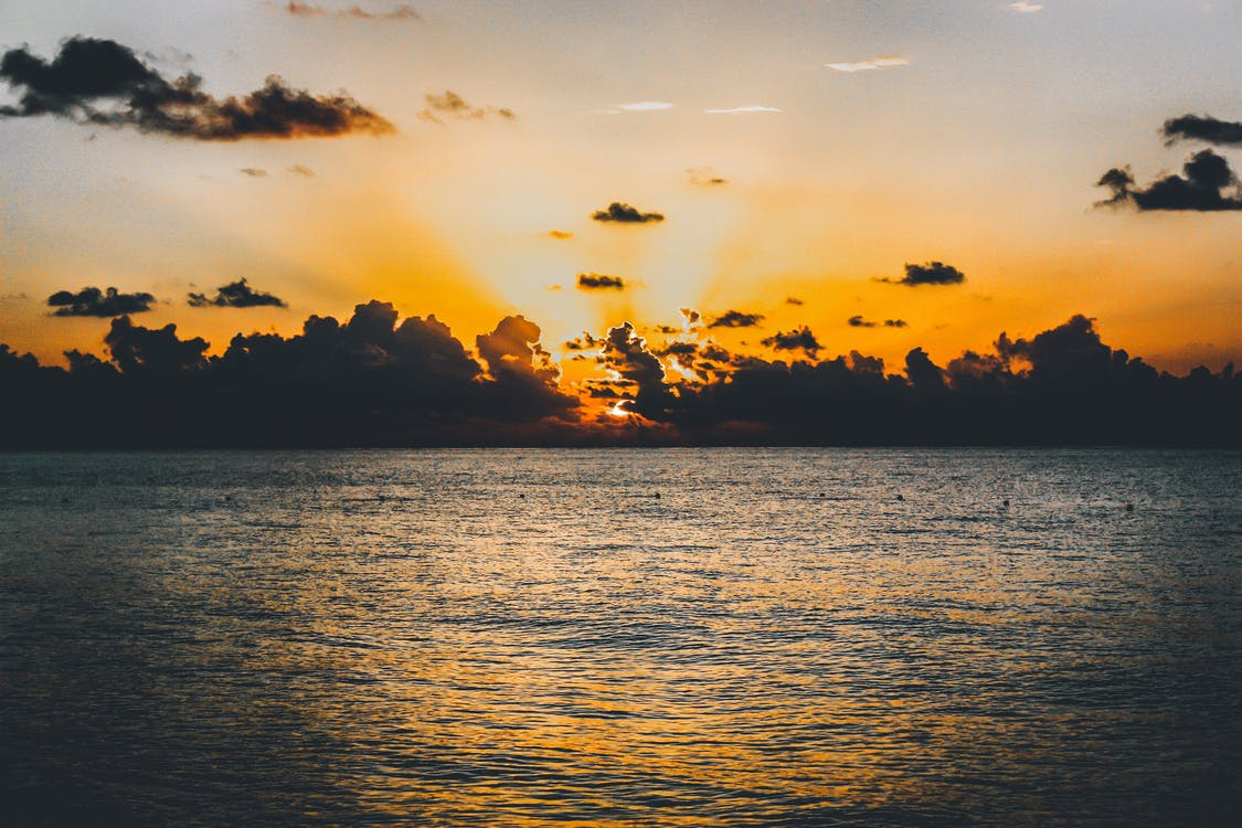 ακτή, ακτίνες ηλίου, αντανάκλαση