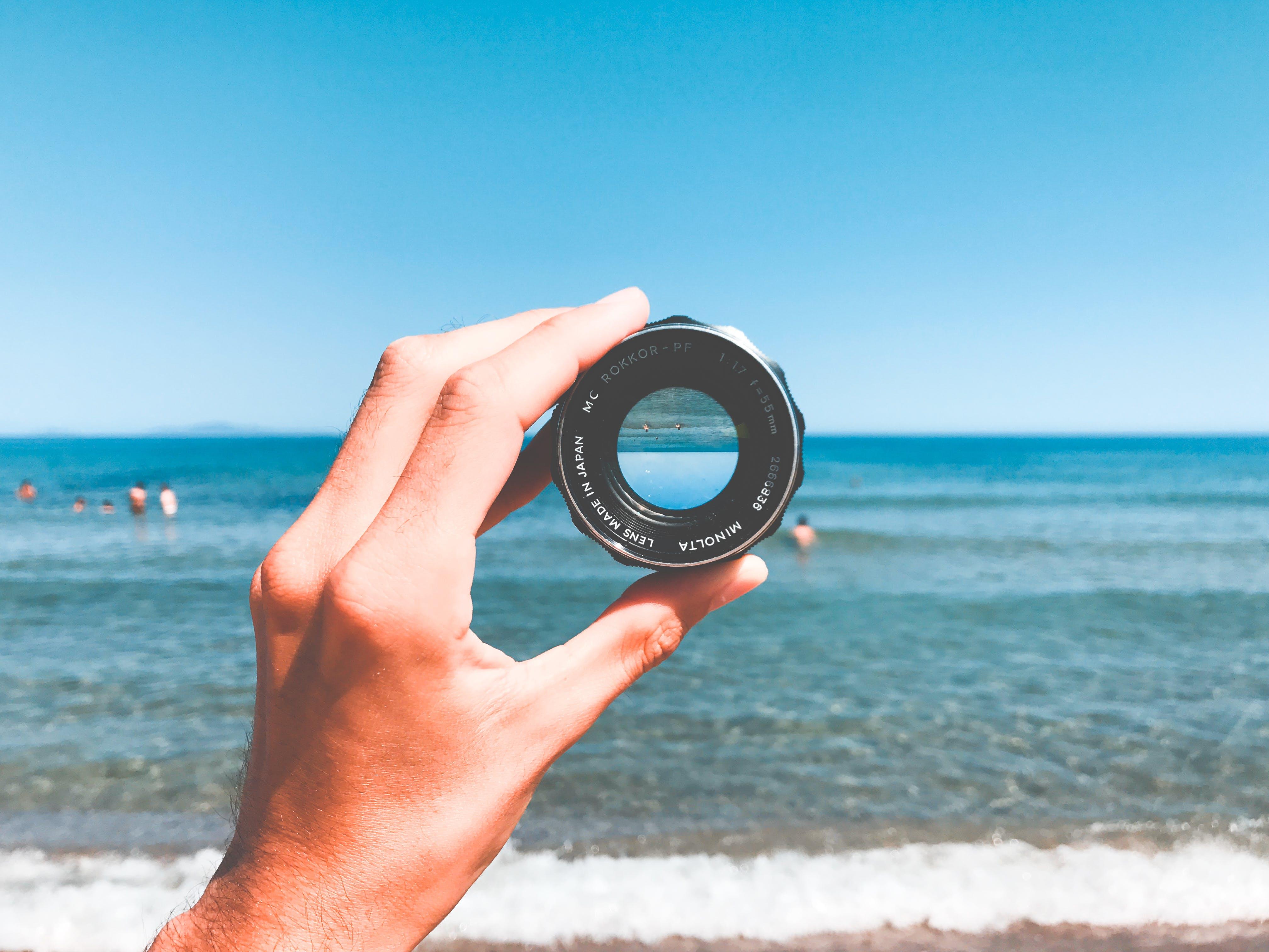 Round Black Lens Case