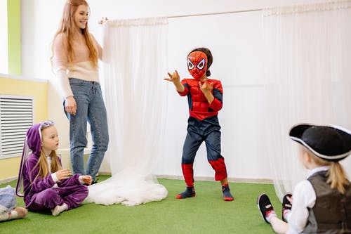 Boy In Spider Man Outfit
