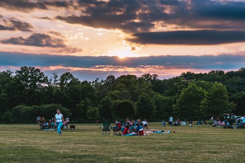 People Having Picnic on a Grass Field