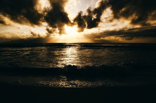 Photo of Sea during Sunset