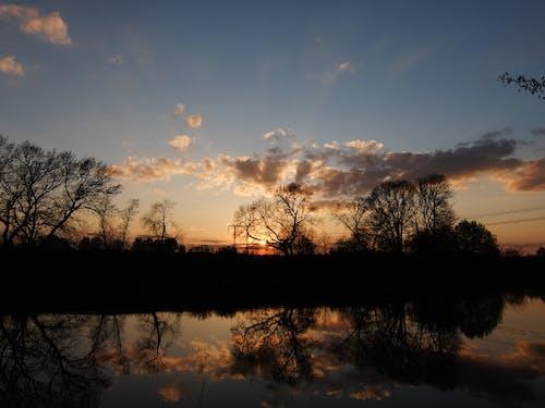 Бесплатное стоковое фото с вид на закат, закат, закатное небо