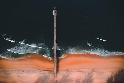 Бесплатное стоковое фото с Аэрофотосъемка, берег, берег моря