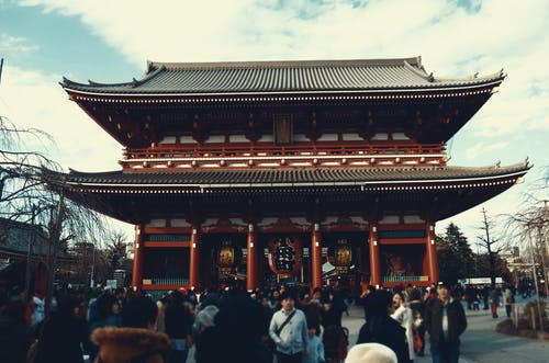 Photo of People in Temple, Japan