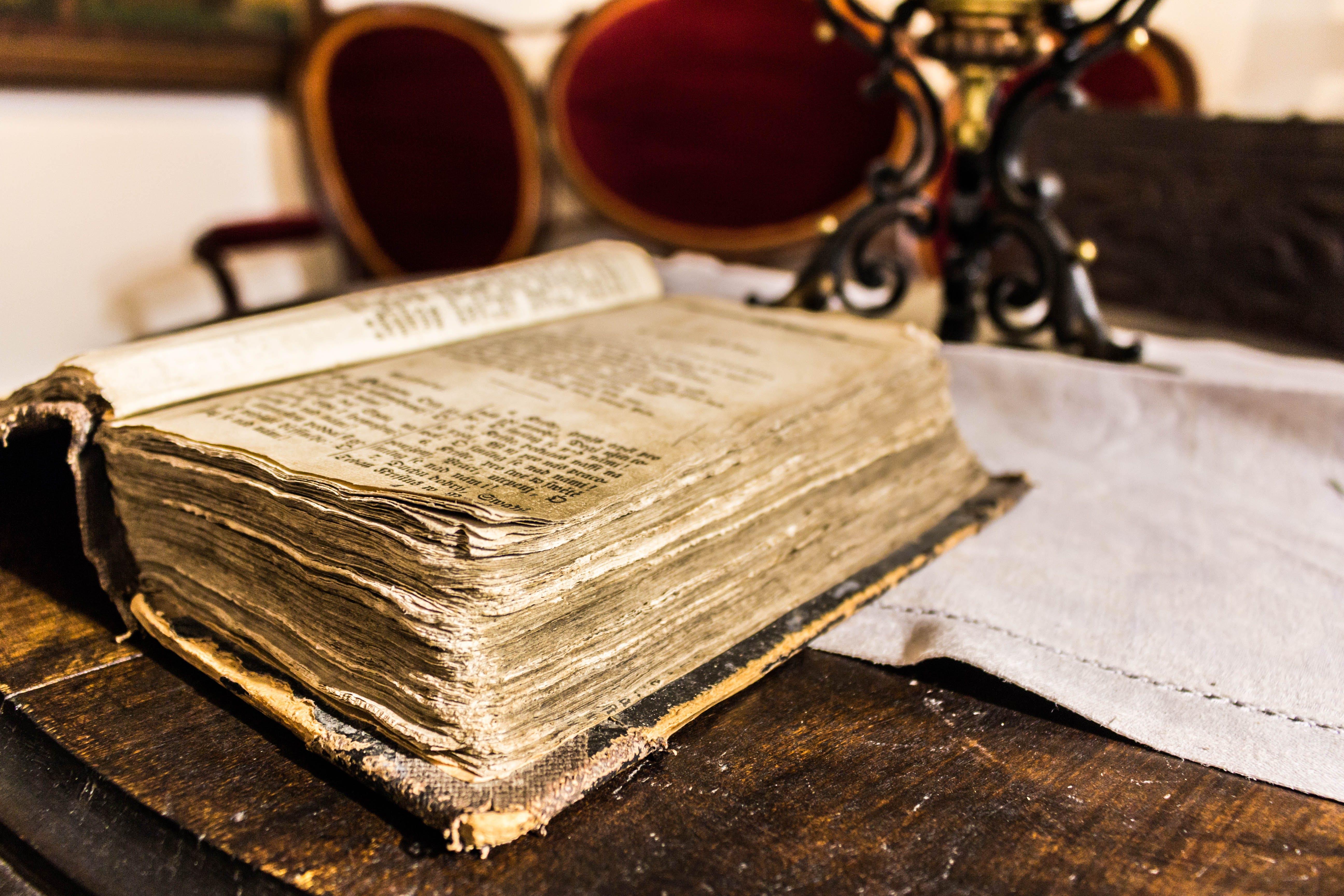 Free stock photo of antique, book, focus, historical