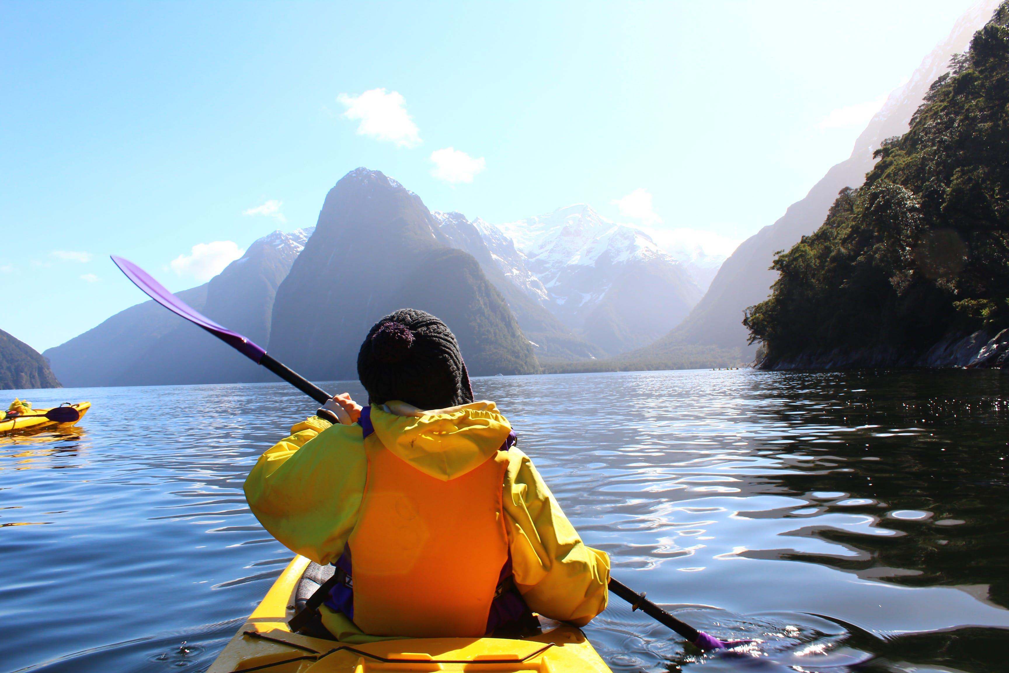 Free stock photo of adventure, kayaking, milford sound, new zealand