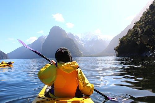 Free stock photo of adventure, kayaking, milford sound