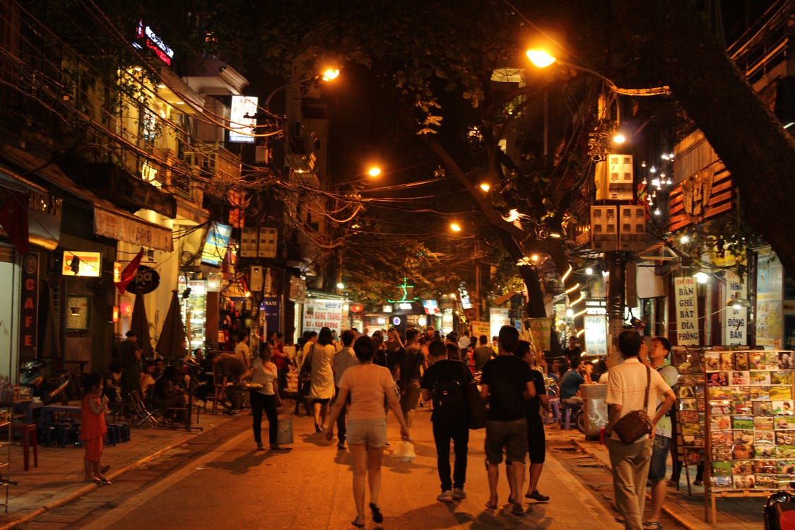 Hanoi, lights, night
