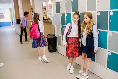 Students Standing Near Lockers