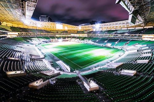 Futbol stadyumu, gece fotoğrafçılığı, gece gökyüzü, stadyum içeren Ücretsiz stok fotoğraf