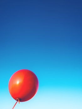 Free stock photo of sky, red, rubber, balloon