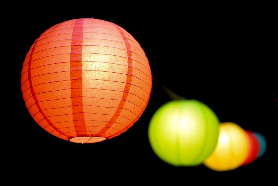 Selective Focus Photo Of Paper Lanterns