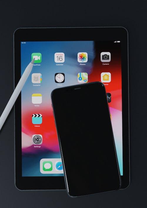 Gratis lagerfoto af æble, æble blyant, app