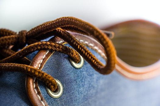 Free stock photo of shoe, object, close-up, shoelace