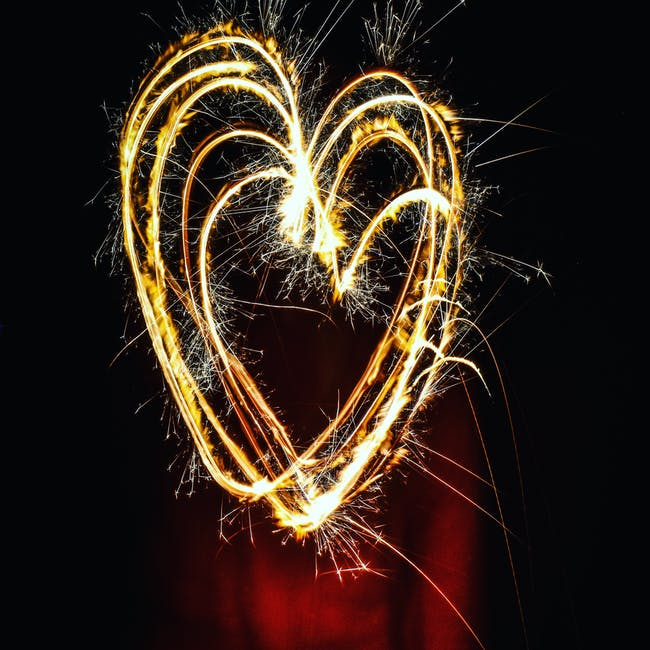 Heart-shaped Fireworks