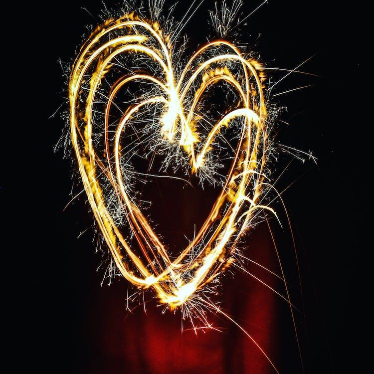 Heart-shaped Fireworks