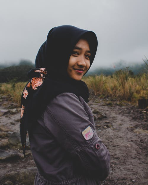 Free stock photo of fade, hijab, mountain, natural