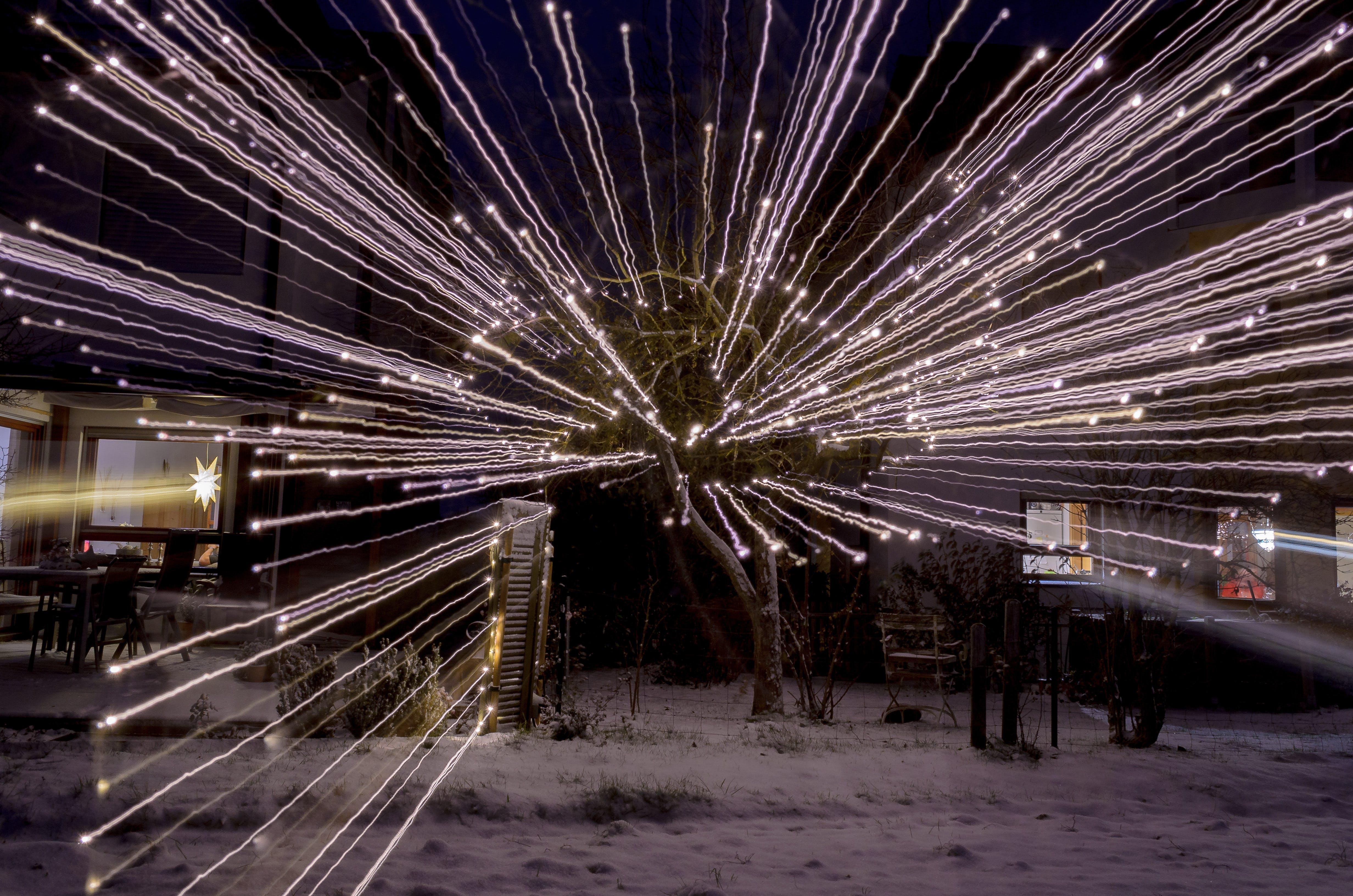 Základová fotografie zdarma na téma přiblížit, světelné řetězy, vánoce