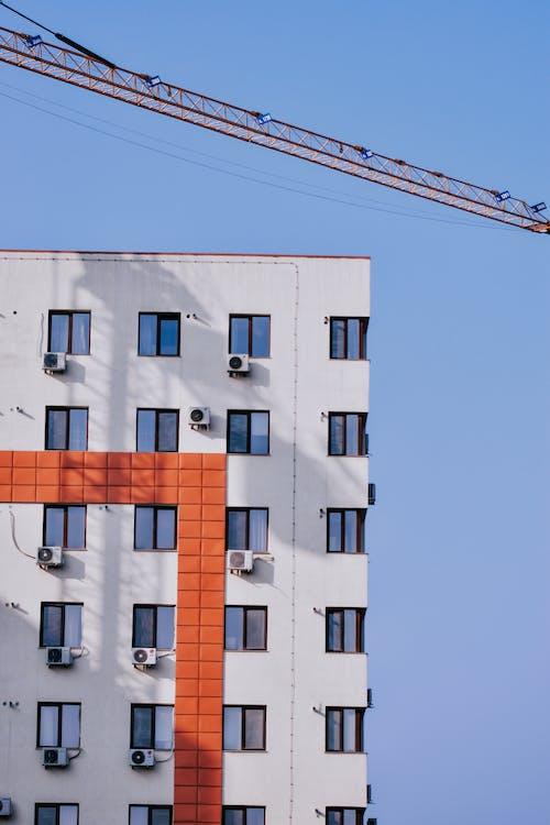 アパート, クレーン, コンクリートの無料の写真素材