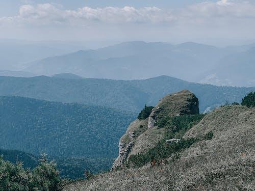 ハイキング, パノラマ, 丘の無料の写真素材