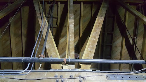 Free stock photo of beams, ceiling, construction, industrial