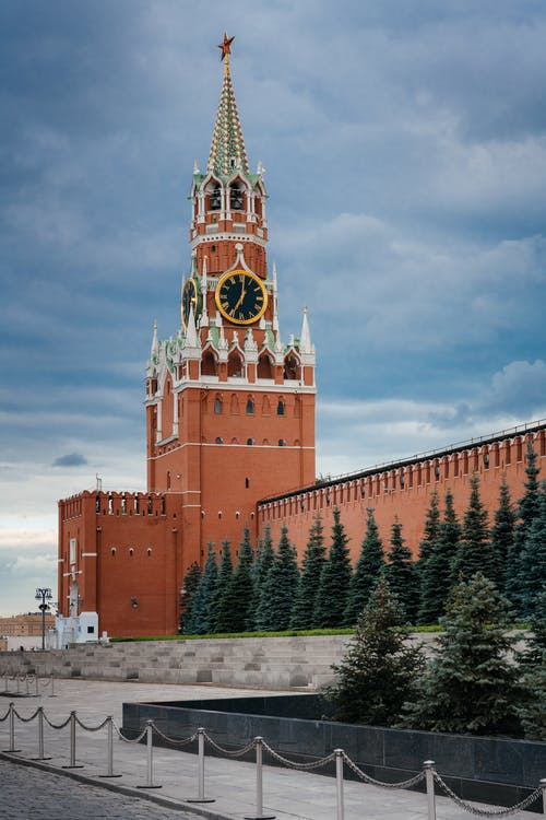 Clock Tower of Red Square Cathedral