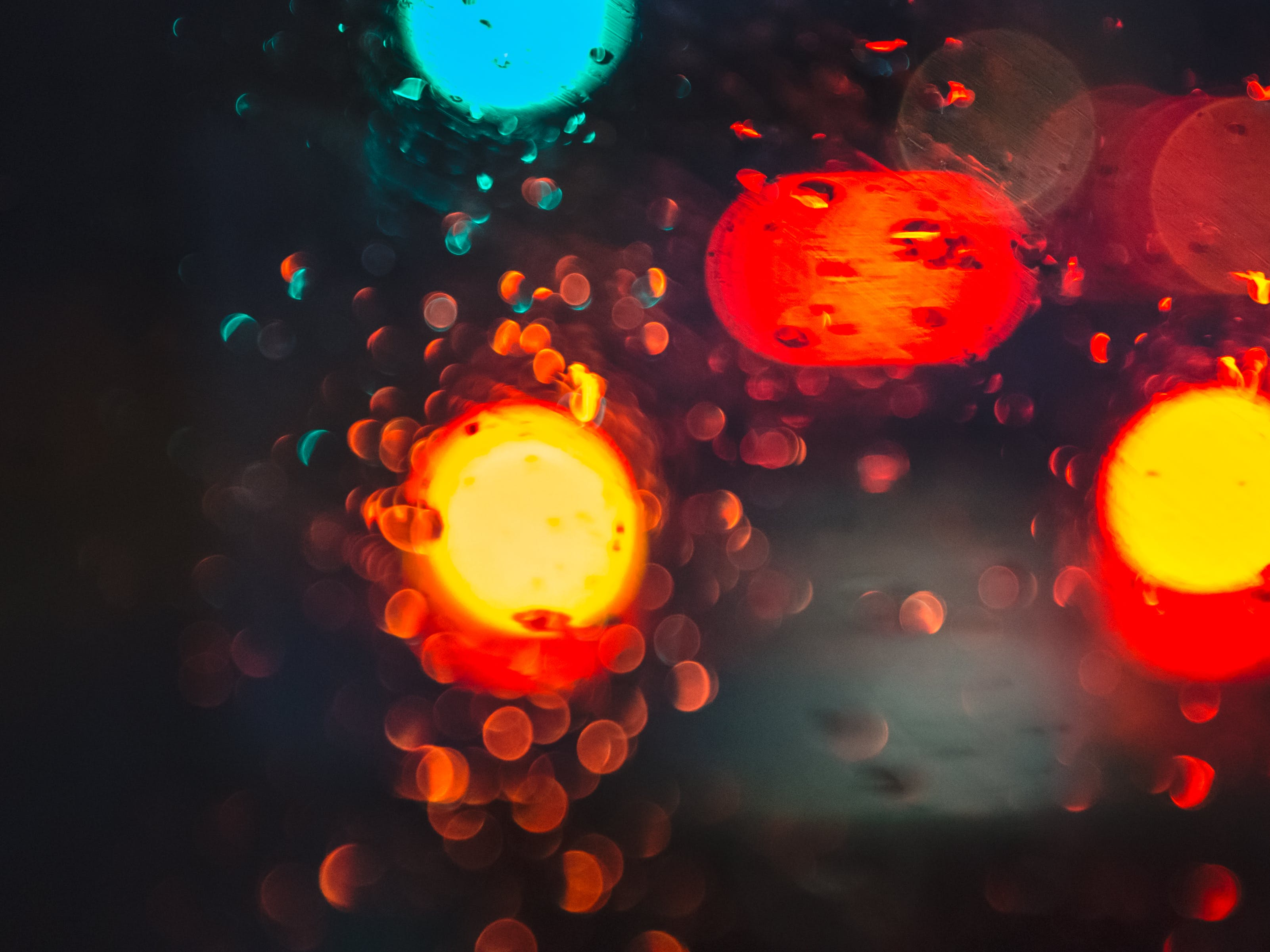 Red, Yellow, and Blue Bokeh Light