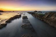 landscape, sunset, water