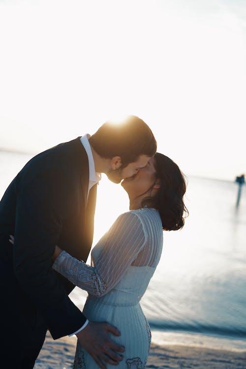 ビーチウェディング, 愛, 結婚式の無料の写真素材