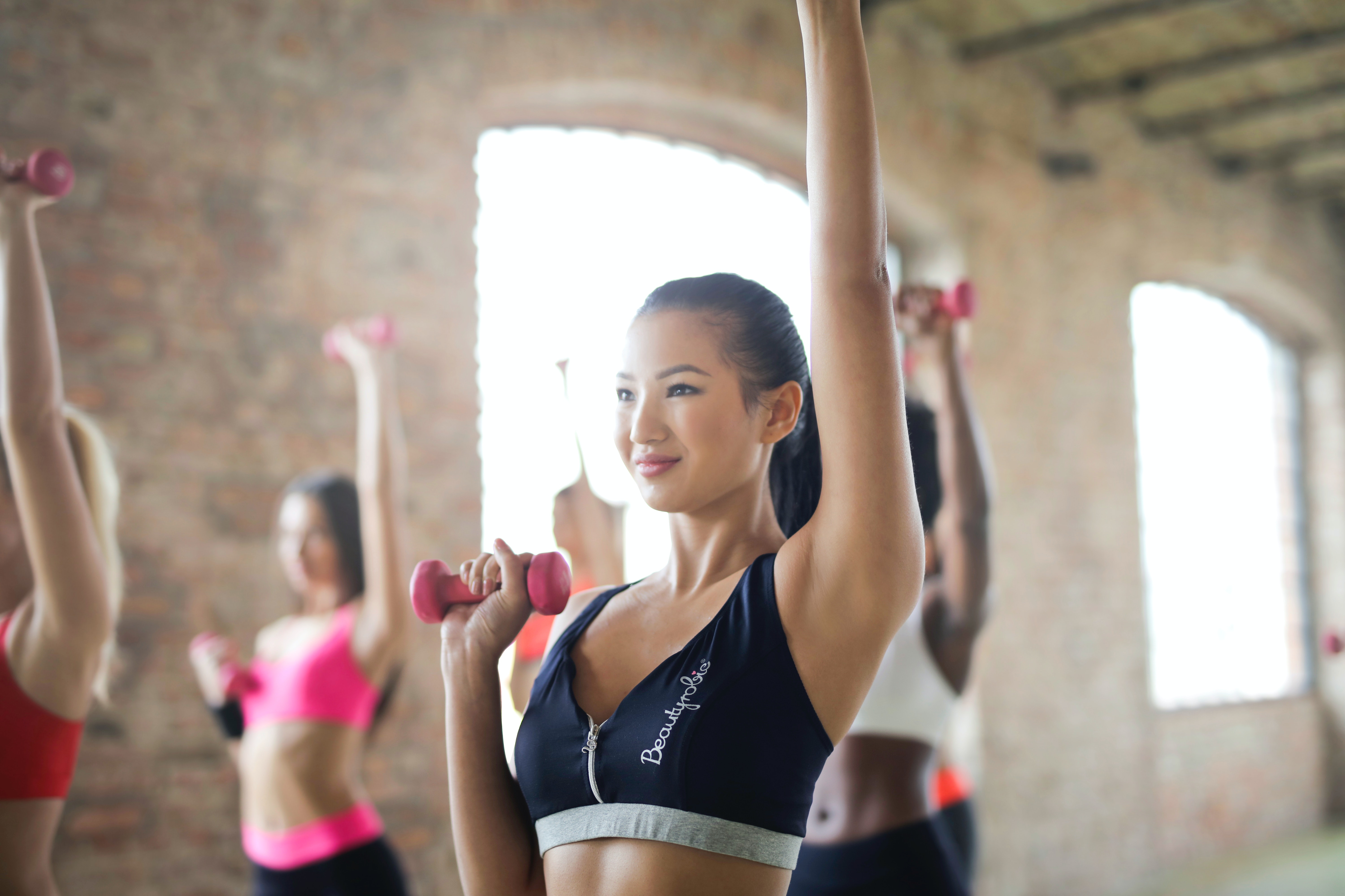 group of women doing work out 183 free stock photo