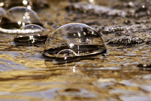 Free stock photo of water, macro, bubbles, close-up