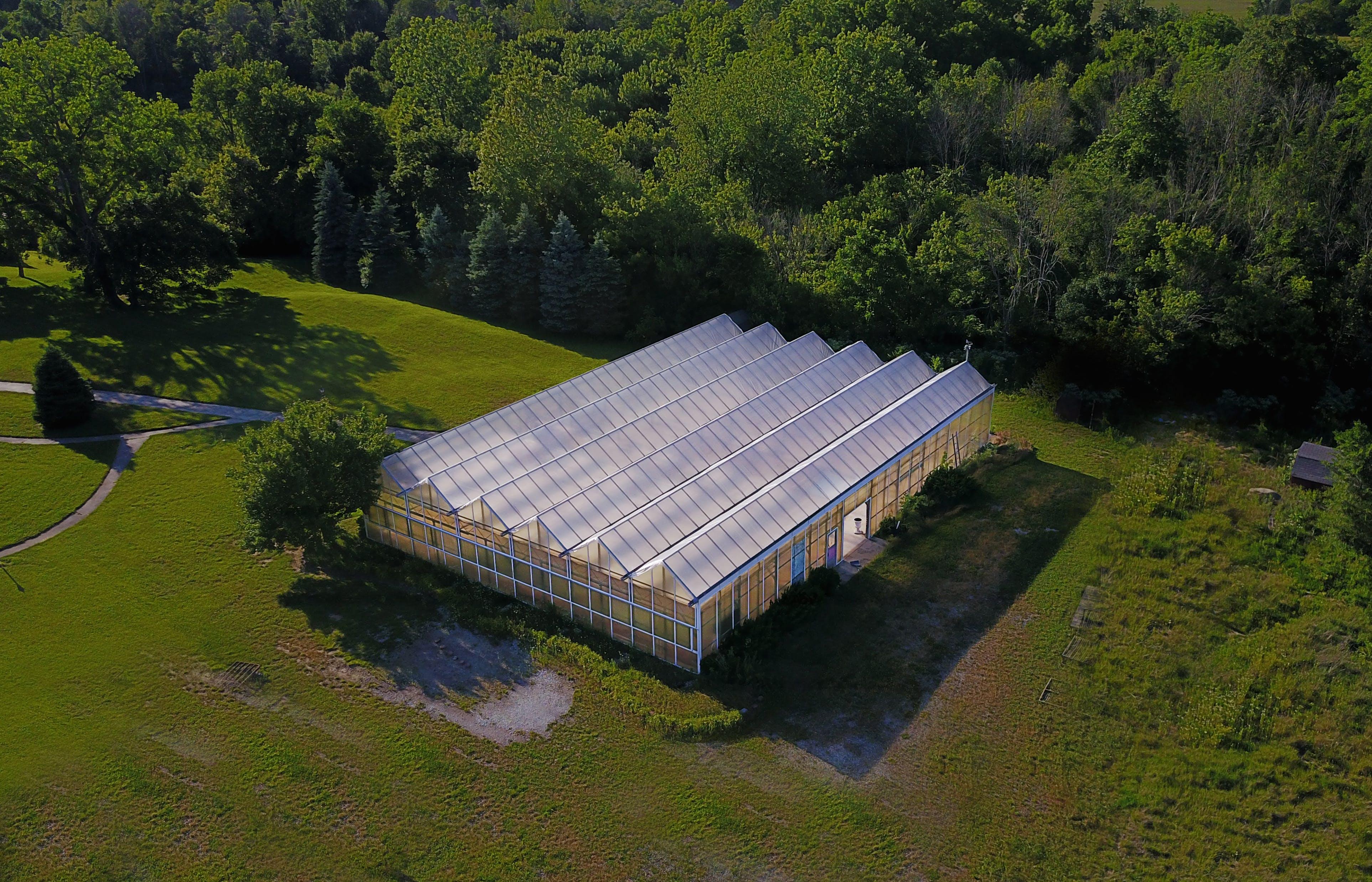 Free stock photo of Greenhouse ariel