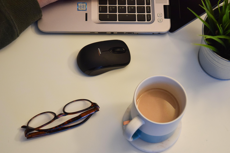 Free stock photo of coffee cup, coffee mug, computer, cup